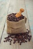 Sack of coffee beans — Stock Photo