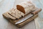 切片的黑麦面包 — 图库照片
