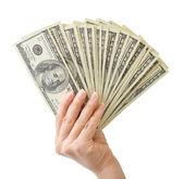 Con el dinero de la mano — Foto de Stock