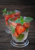 Strawberry mojito — Стоковое фото