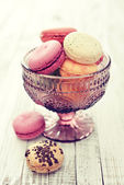 Different kinds of macaroons — Stock Photo
