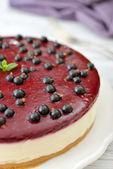 Black currant cheesecake — Stock Photo