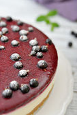 Black currant cheesecake — Stock Photo