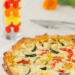 Home made vegetable quiche — Stock Photo