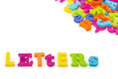 "Multicoloured World ""LETTERS"" — Stock Photo"