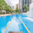 Swimming pool with swimming path — Stock Photo