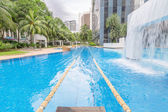 Swimming pool with swimming path — Stockfoto