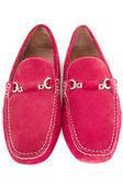 Par de zapatos de los hombres rojos aislado en blanco — Foto de Stock