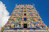 Facade of a Hindu temple in Victoria, Seychelles — Stock Photo