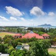 Stock Photo: View of Seychelles capital Victoria, Mahe