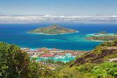 Aerial view of Eden island, Mahe, Seychelles — Foto Stock