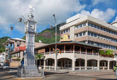 Clock tower in Victoria, Mahe, Seychelles — Stockfoto