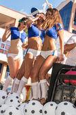 VICTORIA, SEYCHELLES - April 26, 2014: Group of Italian female — Stock Photo