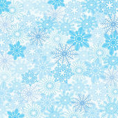 Seamless snow flakes vector pattern — Stock Vector