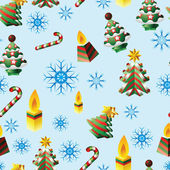 The New Year's Christmas pattern — Vector de stock