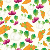 Seamless vegetables and fruit pattern vector — Stock Vector