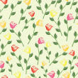 Seamless rose wallpaper pattern — Stock Vector