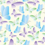 Seamless abstract butterfly pattern vector — Stock Vector