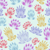 Seamless flowers vector pattern — Stock Vector