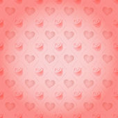 Rose St. Valentine's Day heart vector pattern — Vettoriale Stock