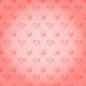 Rose St. Valentine's Day heart vector pattern — Vector de stock