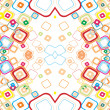 Vector abstract background from color squares - Stok Vektr