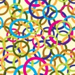 Stockvector : Abstract vector pattern background from color circles