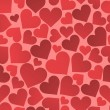 Seamless heart vector pattern background — ベクター素材ストック