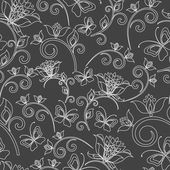 Seamless flowers abstract pattern vector background. if necessary it is possible to change colors easily. — Vetor de Stock