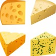 Cheese set in vector illustration - Imagen vectorial