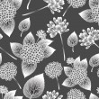 Seamless flowers abstract pattern vector. if necessary it is possible to change colors easily. - Stock Vector