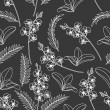 Seamless flowers abstract pattern vector. if necessary it is possible to change colors easily. - Vektorgrafik