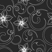 бесшовные цветы абстрактный узор вектор. при необходимости это можно легко изменить цвета. — Cтоковый вектор