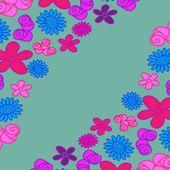 абстрактный витиеватые цветочные текстуры — Cтоковый вектор