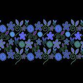 Abstrata textura floral ornamentada — Vetor de Stock