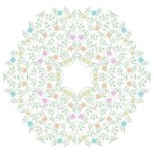 Abstract circle ornate floral texture — Stock Vector