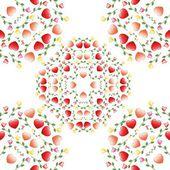 Abstrakt cirkel utsmyckade blommig konsistens — Stockvektor
