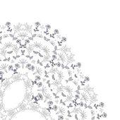 Segment de texture florale ornée de cercle abstrait — Vecteur