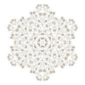 Textura floral ornamentado do círculo abstrato — Vetor de Stock