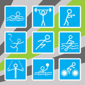 Olympic sport icons — Stock Vector