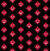 Fondo transparente de halloween con caras de miedo rojos — Vector de stock