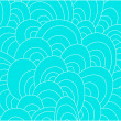Wektor stockowy : Artistic abstract blue hand-drawn waves background
