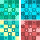 Patch naadloze patroon. vector — Stockvector