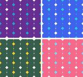 Artístico de patrones sin fisuras con plazas en líneas — Vector de stock