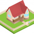 Isometric house — Stock Vector #15479153