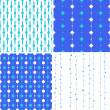 Seamless pattern with squares and circles on lines - Imagen vectorial