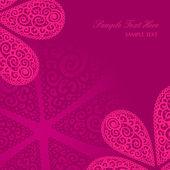 Vector doodle twirl flowers background — Stock Vector