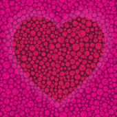 Vector background on Valentine's Day with heart — Stock Vector