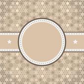 Vektor rundade retro vintage etikett på stjärnklara bakgrund — Stockvektor
