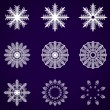 Decorative abstract snowflake. Vector illustration. — Stock Vector